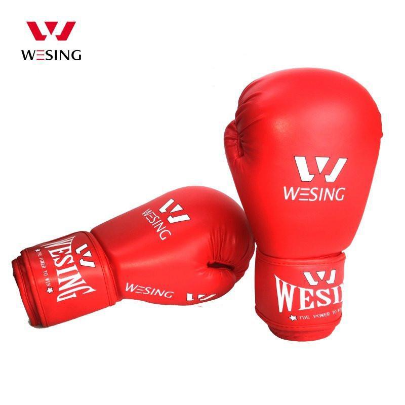 găng tay boxing wesing đỏ cao cấp